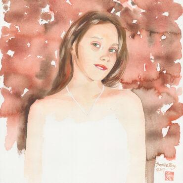 Ornamental Girl-Amber